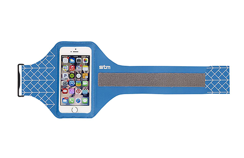 STM Sports Armband for iPhone 6 and Smartphones up to 5.1 Inches - Blue (stm-336-085DZ-20)